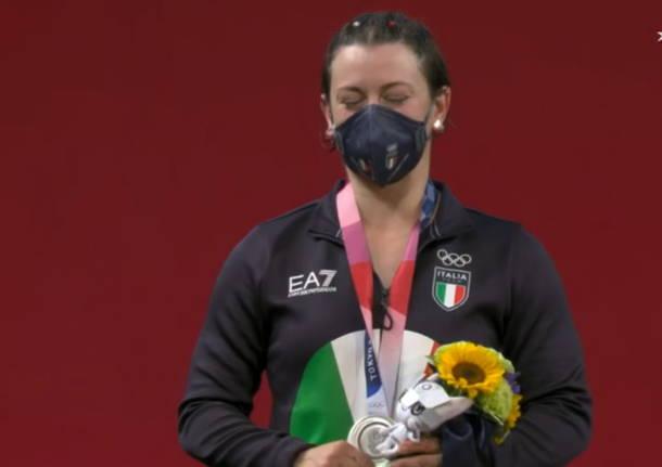 giorgia bordignon sollevamento pesi podio olimpiadi