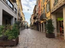 Il centro di Varese ripulito dopo i festeggiamenti per la vittoria agli Europei