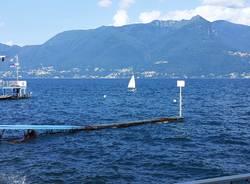 Il vento increspa il Lago Maggiore a Luino