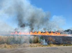 Incendio a Villa Cortese 1 luglio