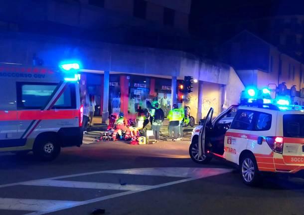 Incidente a Parabiago piazza Maggiolino