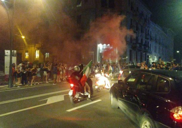 Italia in finale agli Europei, festa a Legnano