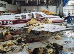 L'aeroporto di Magadino Locarno devastato dal maltempo