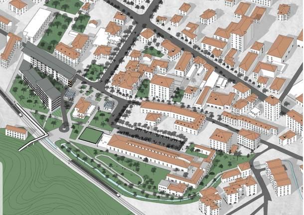 Come sarà l'area dell'ex macello a Varese