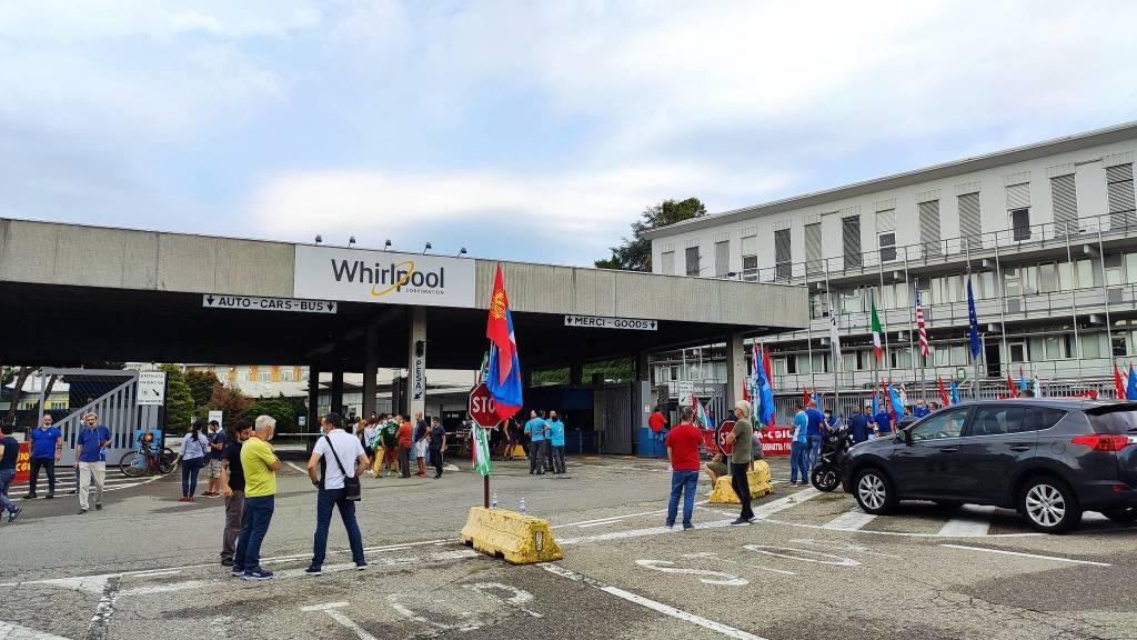 Lo sciopero alla Whirlpool di Cassinetta