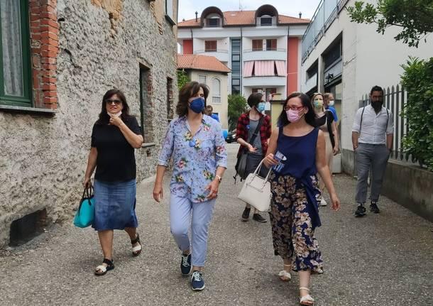 Margherita Silvestrini nei quartieri di Gallarate