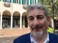 Matteo Bianchi si presenta in piazza Podestà a Varese