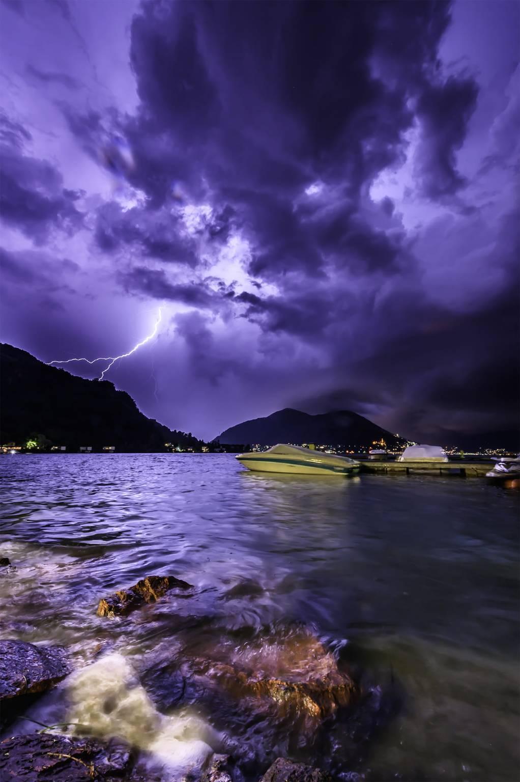 Porto Ceresio, temporale - foto di Riccardo Mantegazza