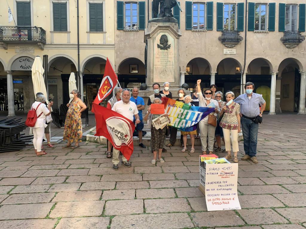 Presidio per ricordare a Varese i 20 anni del G8 di Genova