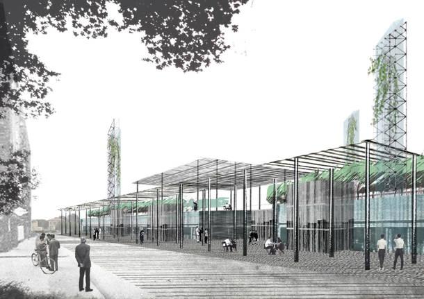 progetto stazione ferrovie nord busto arsizio