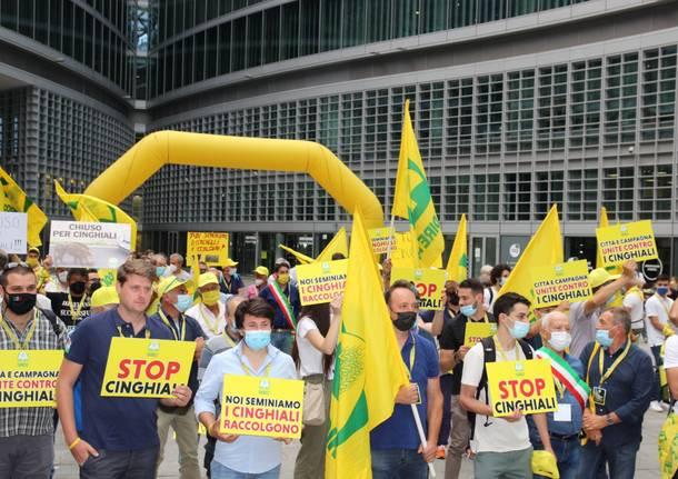 Protesta agricoltori Milano