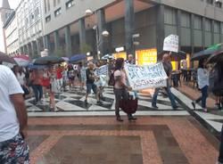 protesta No Vax  Varese Busto