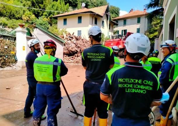 Protezione civile di Legnano in soccorso delle popolazione alluvionate nel Comasco