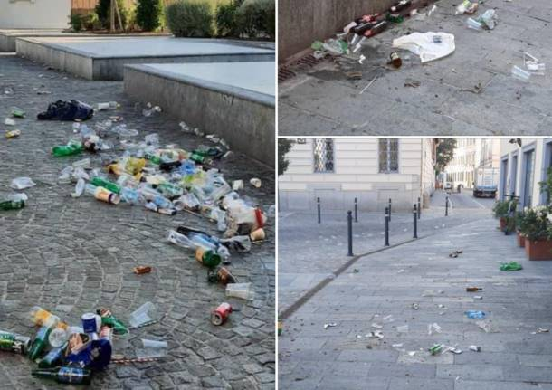 rifiuti piazza vittorio emanuele busto arsizio
