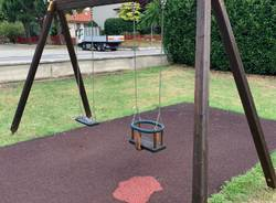 San Giorgio - Il parco di via Aldo Moro dopo il restyling dei ragazzi della coperativa La Ruota