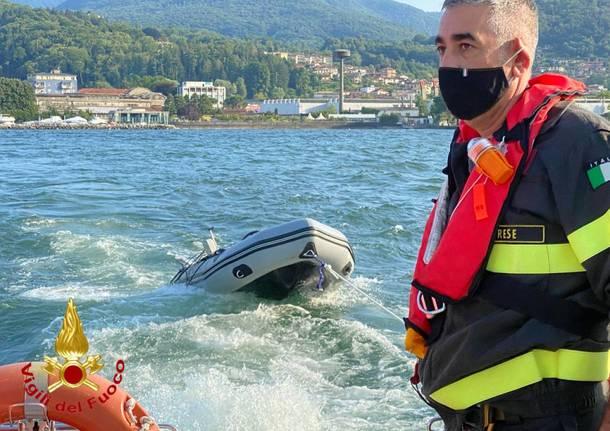 Soccorso dei Vigili del Fuoco di Luino sul Lago Maggiore