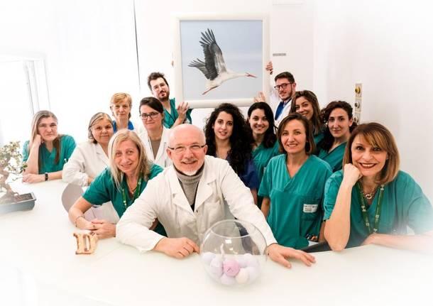 staff del Centro di Diagnosi e Terapia della Sterilità di Niguarda, guidato da Maurizio Bini