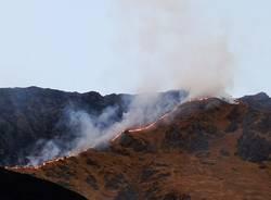 Gli incendi boschivi nel Comasco del 2019