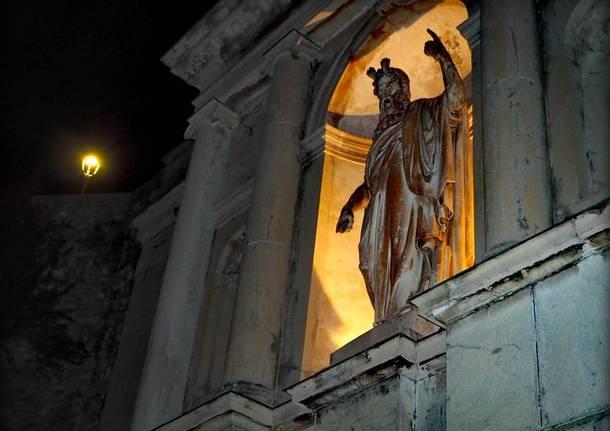 Sacro Monte by night