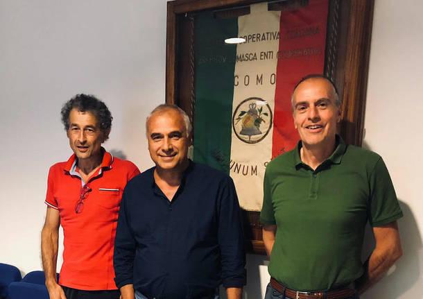 consorzio abitare Bruno Rampoldi, Patrizio Tambini (presidente) e Stefano Panzetta
