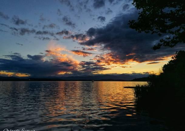 Il tramonto alla Schiranna