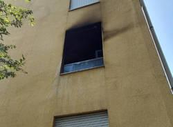 incendio in appartamento a busto garolfo