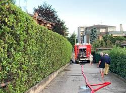 INcendio in una abitazione a Bizzozero, Varese - 1 agosto 2021