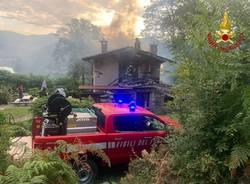 Incendio Lavena Ponte Tresa