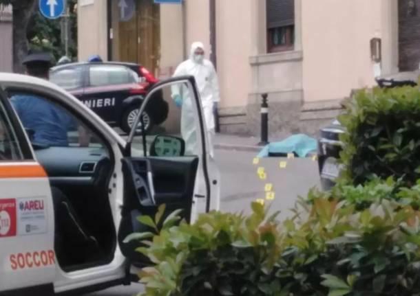 Omicidio di Bergamo, (foto Bergamonews)