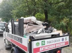 Parco delle Groane: volontari ripuliscono un'area sulla Saronno - Monza