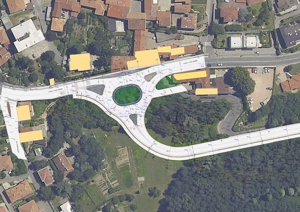 Progetto via Piana di Luca, rotonda viale Borri