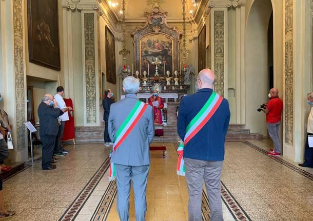 San Fermo benedizione per la riapertura del Santuario al Terrazzo Panoramico con Delpini