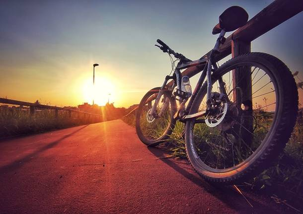 Sulla pista ciclabile verso Solaro
