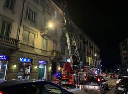Varese - Incendio via Carcano