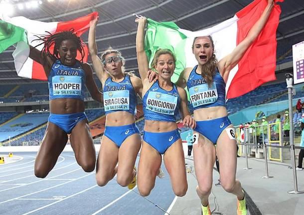 vittoria fontana staffetta atletica leggera