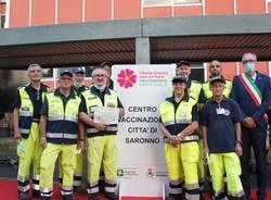 150 giorni di hub vaccinale: il grazie di Saronno anche ai volontari della Protezione civile di Cislago