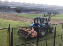 Campo sportivo di Legnano, lavori dopo il Palio
