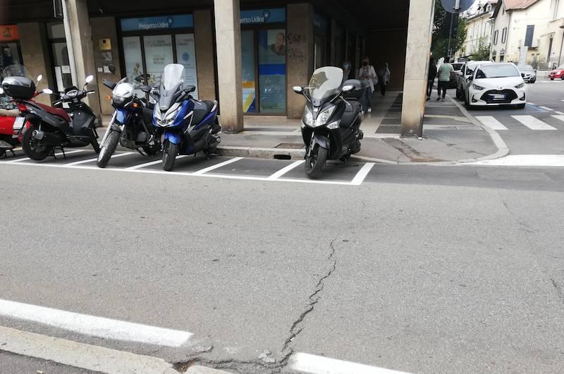 I parcheggi di via Cavour