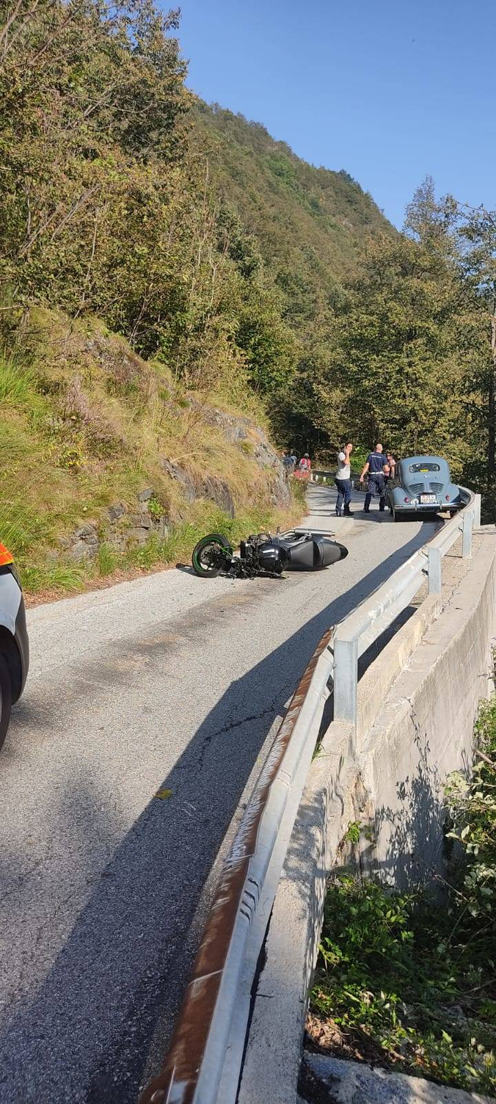 Incidente stradale in Alta Val Cannobina