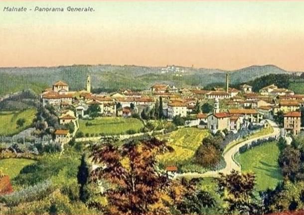 cartolina storica malnate panorama