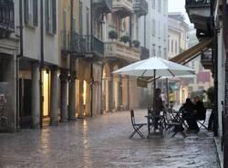 Corso Matteotti sotto la pioggia