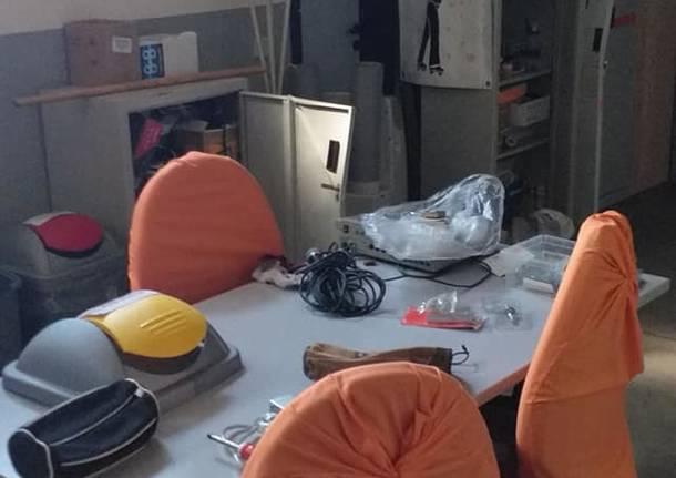 Doppio raid vandalico nella palestra Aldo Moro, colpito il materiale dello Skating Club Saronno