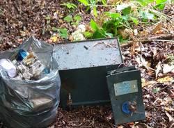 cassaforte bosco abbandono rifiuti
