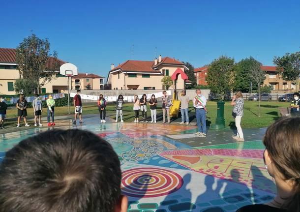Il grande murales Villa Cortese