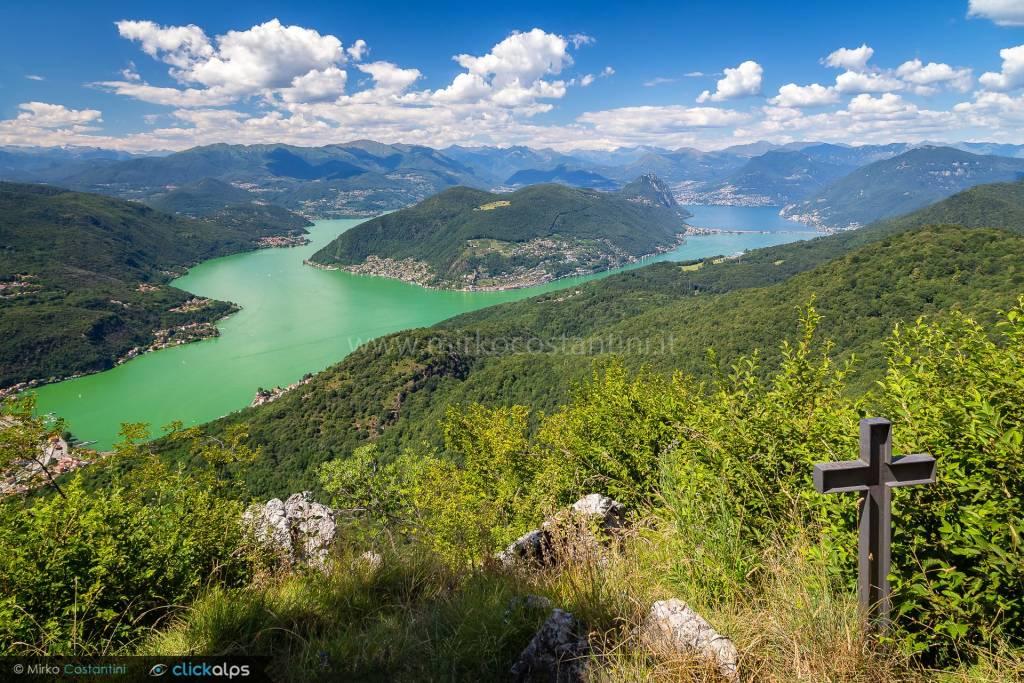 Il lago Ceresio dal Monte Orsa - foto di Mirko Costantini ph