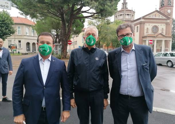 Il ministro Giorgetti a Cislago per sostenere la candidatura a sindaco di Gianluigi Cartabia