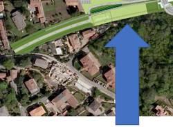 Induno OLona - I lavori per la trasformazione della vecchia ferrovia in pista ciclopedonale e area verde