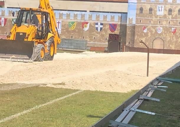 La sabbia è arrivata al Campo: si corre verso il Palio di Legnano
