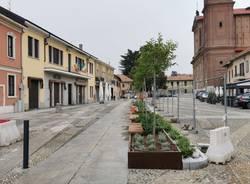 lavori piazza Italia samarate
