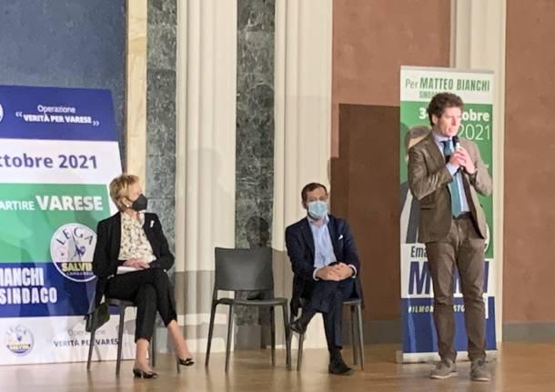 Letizia Moratti a Varese per spiegare la riforma della sanità